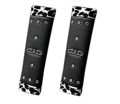 Cool Guy Series- Safe Car Seat PU Belt Strap Cover, Black Rhinestone DAD, A Pair