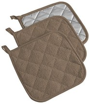 """DII Cotton Terry Pot Holders 7x7"""" Set of 3 Heat Resistant and Machine Wa... - $13.20"""