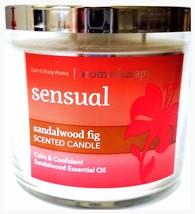 Bath & Body Works Sandalwood Fig ( Sensual ) Aromatherapy 3 Wick Candle ... - $22.81