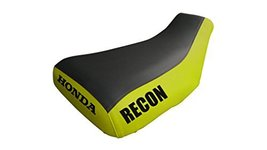 Honda Recon TRX250 Seat Cover Black And Yellow Honda And Recon Logo 2005... - $45.99