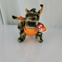 Ty Beanie Baby ~ RAZOR the Camouflage Dragon - DOB:AUG 2 - NWT ~ Retired... - $32.66