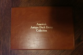 1985 Fleetwood First Day Of Issue America's Antique Duck Decoy Wigeon Duck - $33.25