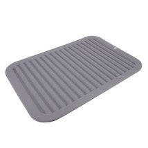 "Silicone Dish Drying Mat for Hot Pots 12"" x 8"" Non-Slip Dish Drainer for... - $14.36"