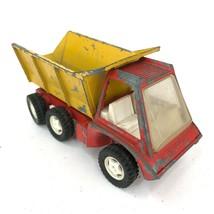 Vintage 1969 Hubley Gabriel Industries Steerable Red Yellow Dump Truck Patina - $40.18