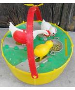Plastic Bank Vintage Chickens Feeding Hong Kong No 601 - $30.00