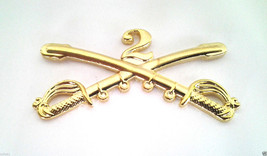 2ND CAVALRY INSIGNIA SWORDS Military Veteran US ARMY Hat Pin 16190 (LARG... - $5.94