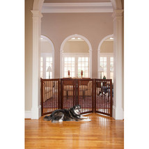 Walk Through Dog Gate Indoor Pet Cat Fence Baby Toddler Safety Stairs Ba... - $168.99