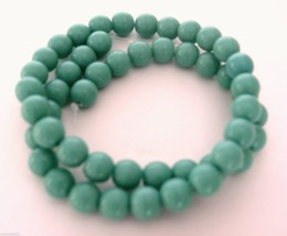 25 8mm Czech Glass Round Beads: Turquoise - $2.96