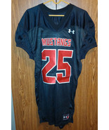 Under Armour football Jersey Mustangs #25 Black Red Sewn Adult Large SMU - $40.46