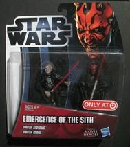 Star Wars Movie Heroes - Emergence of the Sith - Darth Sidious & Darth Maul - $18.70