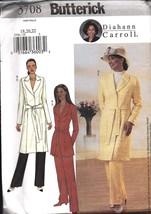 3708 UNCUT Vintage Butterick SEWING Pattern Misses Jacket Belt Pants Car... - $6.29