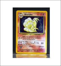 NINETALES  12/102 Rare Holo Base Set Pokemon Card, NM - $16.99