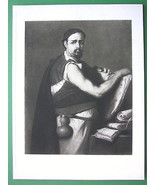 PHILOSOPHER'S Portrait Holding Scrolls - Victor... - $23.76