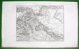 VIENNA & Environs Austria - 1859 Original MAP E... - $21.78