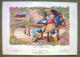 CAVALIER of Middle Ages - 1911 COLOR Litho Print - $8.42