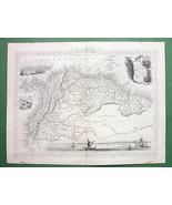 TALLIS MAP Antique Original 1851 - VENEZUELA Gu... - $54.45