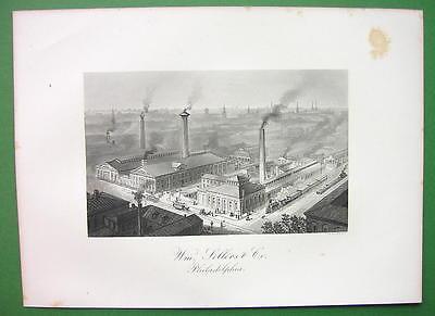 PHILADELPHIA Wm. Sellers Machine Tools Co Building - 1876 Antique Print