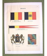 FLAGS BELGIUM Naval Marine Coat of Arms Royal S... - $14.36