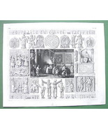 CHINA Propriatory Offerings Mid East Idols Gods - 1844 SUPERB Engraving ... - $21.78
