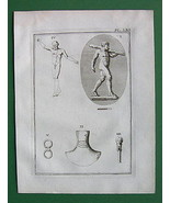 1752 ANTIQUE PRINT - ROMAN ANTIQUITIES IDOLS #61 - $6.92