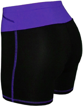 Women's W Sport Two Tone Athletic Work Out Fitness Stretch Gym Shorts AP-4815 image 4