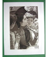 LOVELY MAIDENS French Girls in Garden - 1893 Vi... - $29.65