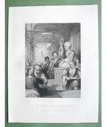 CONSTANTINOPLE Medak Story Teller - ALLOM 1840s... - $29.65
