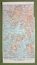 NORWAY Bjorne Fjord Ytre Hardanger - 1892 MAP O... - $7.43