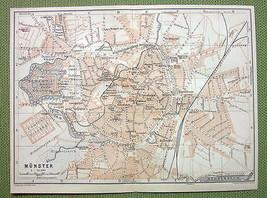 GERMANY Munster City Plan Railroads - 1904 MAP ... - $7.43