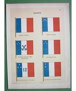 FRANCE Admiral Minister of Marine Naval Flags  ... - $13.86