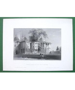 CONSTANTINOPLE Court of Serai Bournou - ca 1840... - $13.86