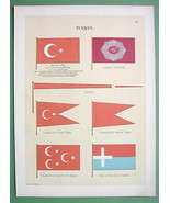 TURKEY National & Naval Flags Samos Island Comm... - $21.78