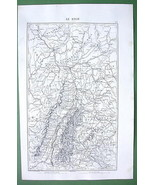1846 ANTIQUE ORIGINAL MAP - GERMANY Rhine River... - $27.72
