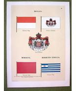 FLAGS MONACO Mosquito Indians Morocco Naval Marine - 1899 Color Antique ... - $14.36