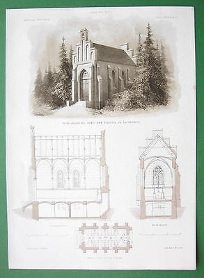 ARCHITECTURE PRINT : Germany Crypt and Chapel at Barskewitz