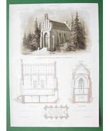 ARCHITECTURE PRINT : Germany Crypt and Chapel a... - $27.72
