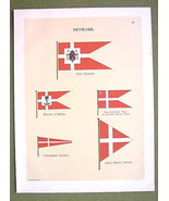 FLAGS DENMARK Royal Standard Naval Marine Commo... - $14.36