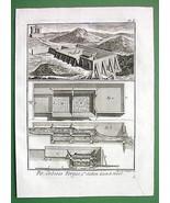 1784 ANTIQUE PRINT - IRON ORE Mining Washing Me... - $5.94