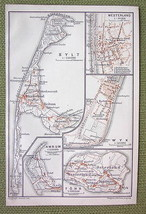 GERMANY Nordfriesland Island Sylt Wyk Amrum Foh... - $7.43