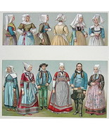 COSTUME French Women of Brittany Bonnets - SUPE... - $33.66