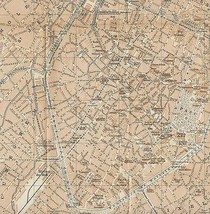 1897 ORIGIANL MAP Baedeker  - Plan City of Buss... - $8.42