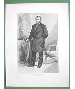 PRESIDENT GRANT in Military Uniform - 1882 Anti... - $17.33