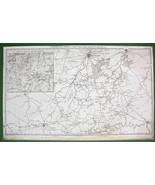 1859 ANTIQUE MAP - Belgium Brussels, Charleroy,... - $29.69