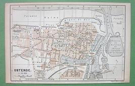 1897 MAP ORIGINAL Baedeker - BELGIUM Ostende Ci... - $6.93