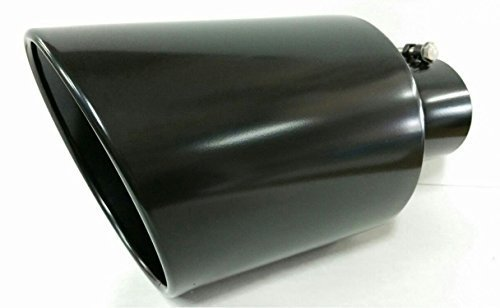 Jones Exhaust J408015RACBK Polished T-304 Black Stainless Steel Exhaust Tip