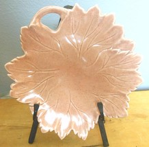 Vintage Russel Wright Steubenville  Woodfield   Leaf Plate Salmon Pink - $16.00