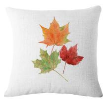 "Pillow Case Cushion Cover Home Sofa Decor Maple leaf Linen Cotton Throw 18"" - $6.30"