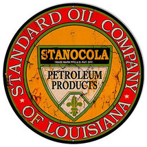 Large Distressed Standard Oil Reproduction Gas Station Sign 24×24 - $79.20