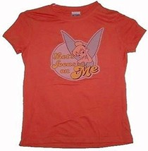 Tinkerbell Let's Focus On Me Juniors T-Shirt Size Large - $14.69