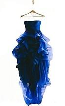 Fanmu Strapless High Low Ruffles Graduation Dresses Prom Dress Royal blue US 10 - $119.99